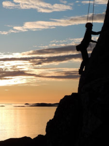 Rock climbing North Norway
