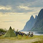Camping in Norway, Senja island